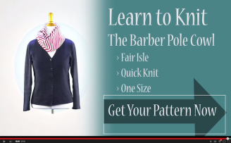 VeryPink Knits – Barber Pole Cowl Tutorial
